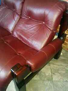 Supreme quality 5 seater real leather sofa - free delivery North Strathfield Canada Bay Area Preview
