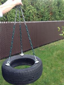 Balançoire pneu avec chaine