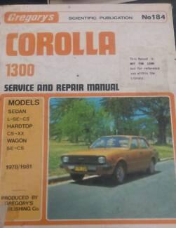 TOYOTA COROLLA 1300 WORKSHOP MANUAL