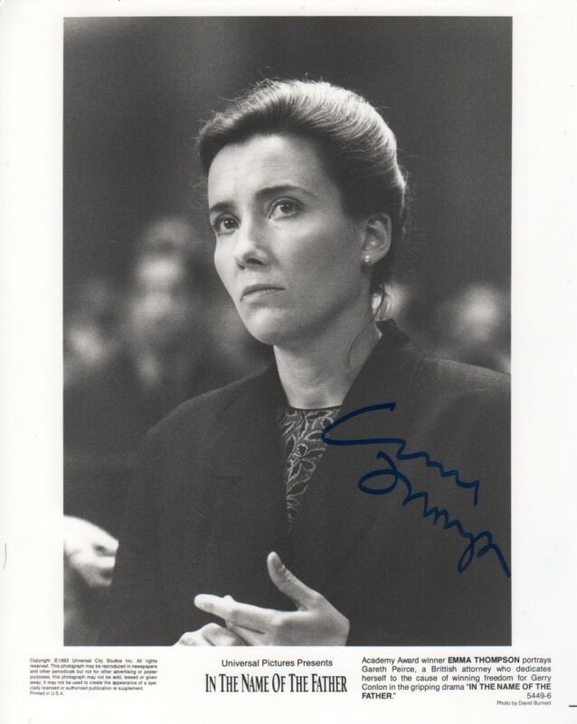 "Emma Thompson ""In The Name Of The Father"" Autogramm signed 20x25 cm Bild s/w"