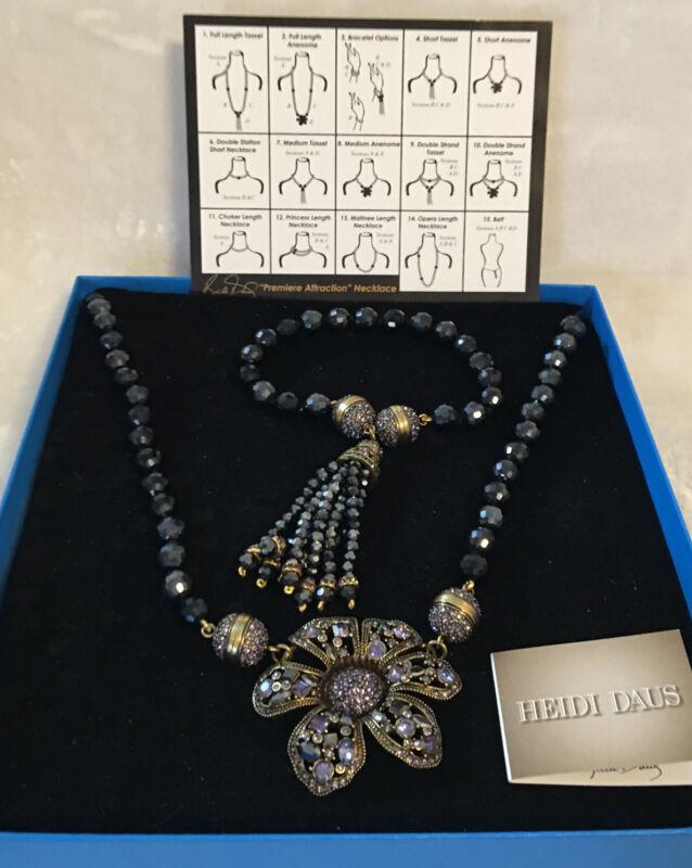 Heidi Daus Premier Attraction Interchangeable Necklace & Bracelet Set SZ LG