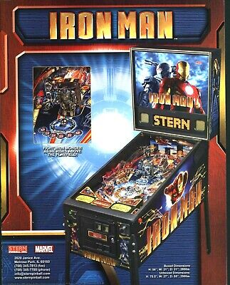 Marvel Iron Man Pinball FLYER 2010 Original NOS Sci-Fi Artwork Superhero Stern