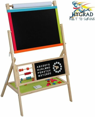 Childrens%2FKids+3in1+Wooden+Art%2FActivity%2Flearning+Easel+Black%2FWhite%2FChalk+Board