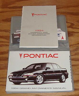 Original 1994 Pontiac Grand Am Owners Operators Manual First Edition (94 Pontiac Grand Am Manual)