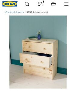 Two Ikea Rast 3 drawer chest for sale (4 month old!)