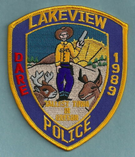 LAKEVIEW OREGON POLICE SHOULDER PATCH DARE