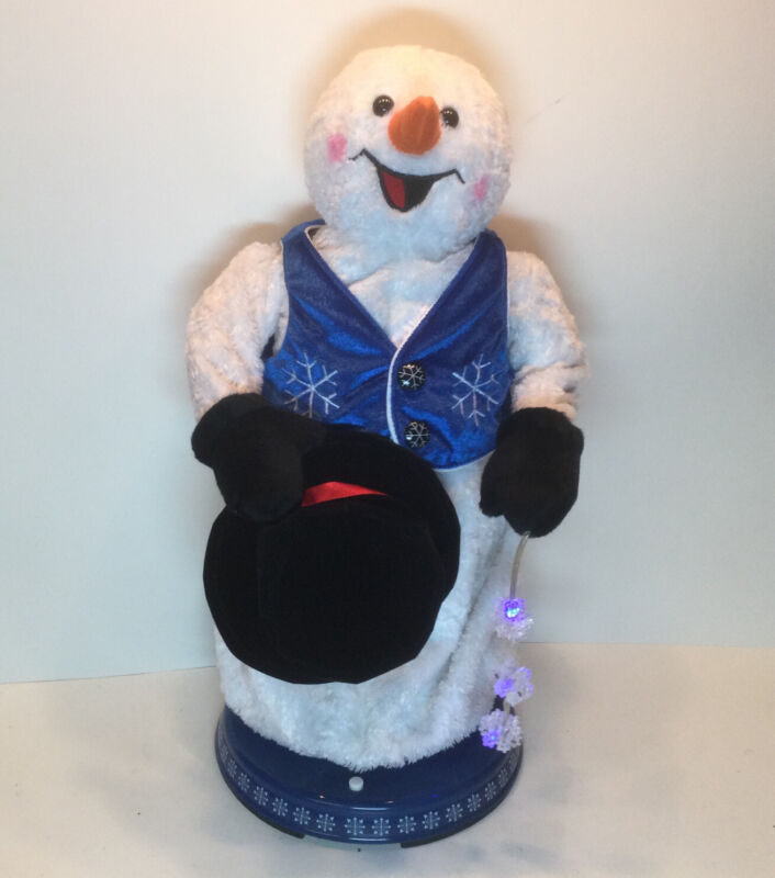 RARE Gemmy Snowflake Spinning Animated Snowman Singing Snow Miser FULLY WORKING!