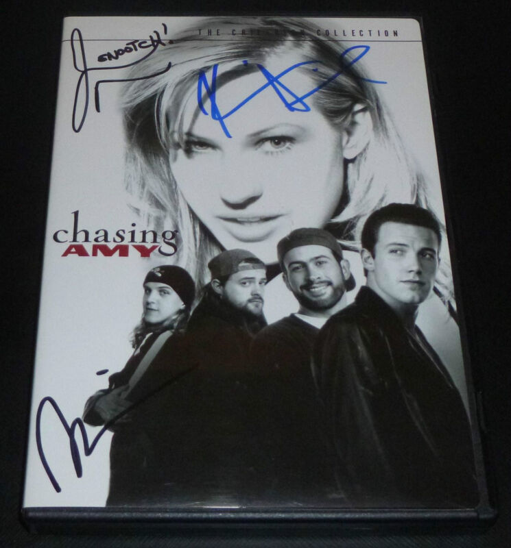 KEVIN SMITH JASON MEWES SCOTT MOSIER SIGNED CHASING AMY DVD w/ PROOF! + INSERT