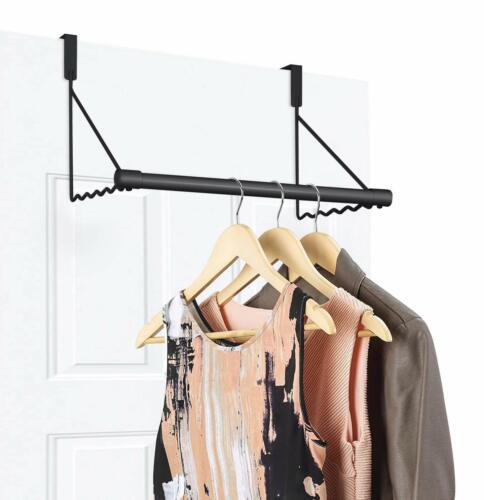 Over The Door Clothes Hanging Bar Rack Valet Hanger Hook Org
