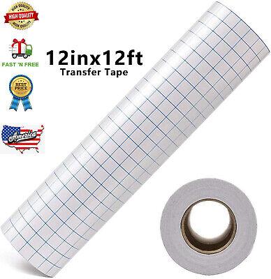 12 X 12 Ft Roll Medium Tack Blue Grid Application Transfer Tape For Craft Vinyl