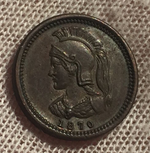 CANADA ANTICOSTI ISLAND TOKEN 1/8 PENNY 1870 - HIGH GRADE