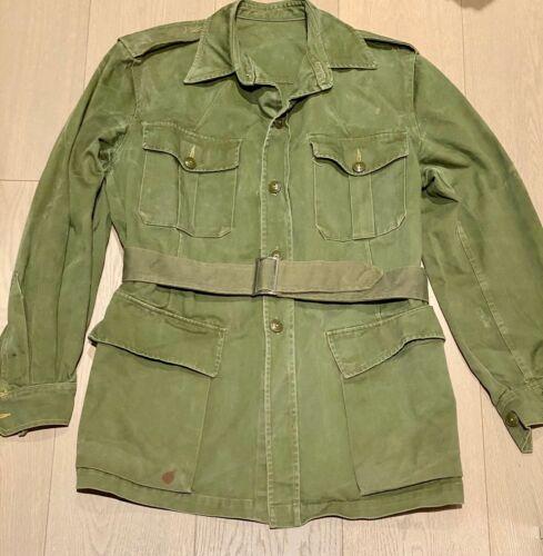 Canadian 1961 Bush Jacket with Belt - Maker Marked - Scarce! Size 10