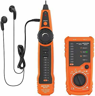 Wire Tracker Meterk Rj11 Rj45 Line Finder Handheld Cable Tester Multifunction