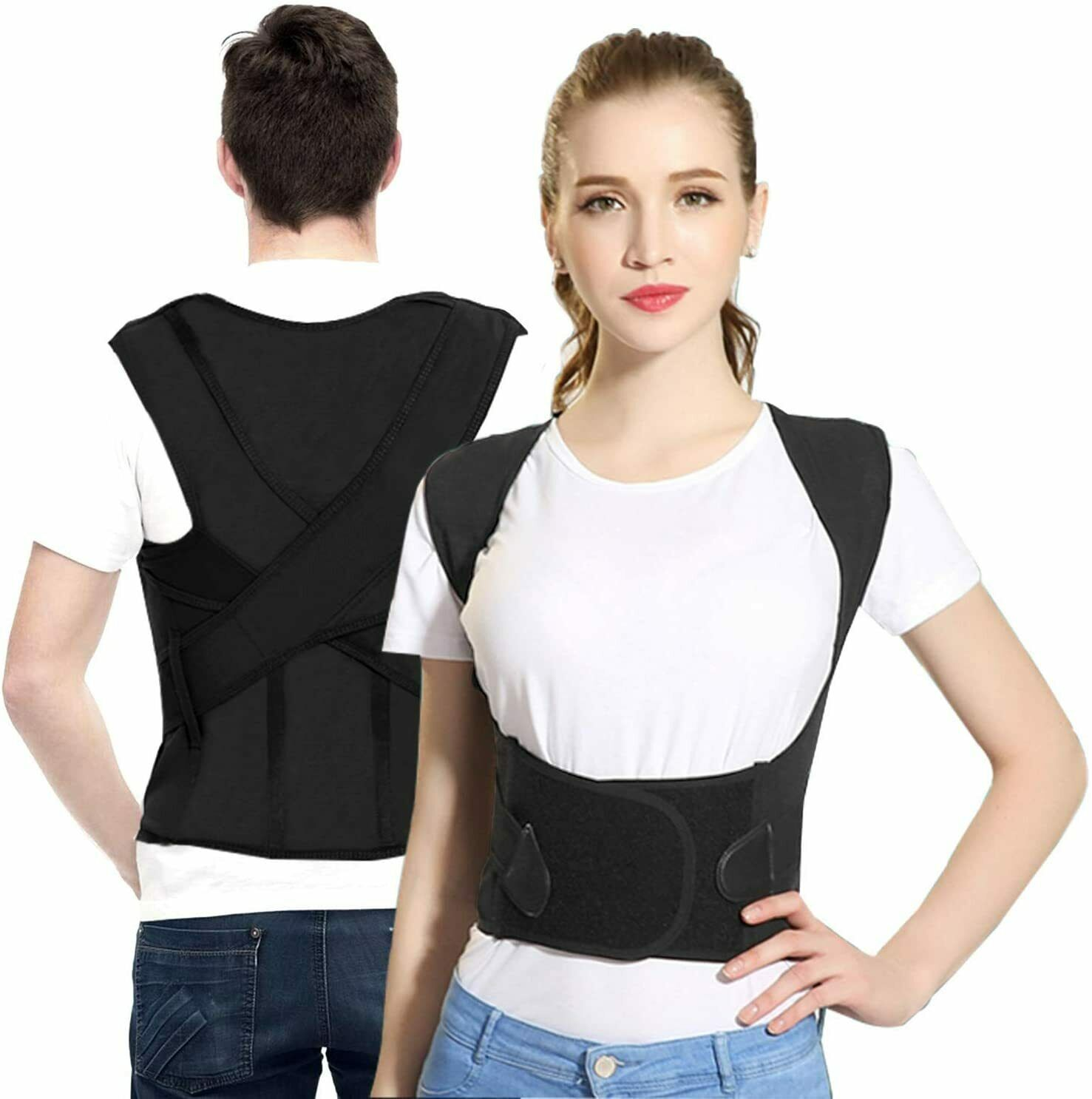 Posture Corrector Sportout Back Brace Four Support Bars Adjustable Health & Beauty