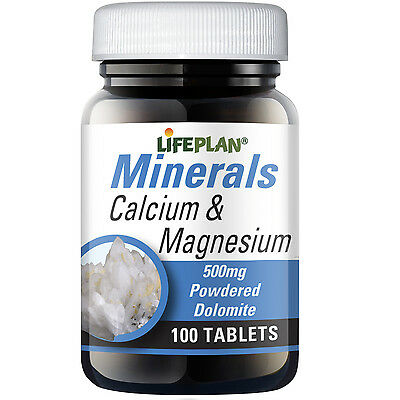 Lifeplan Calcium & Magnesium (Dolomite) 500mg 100 Tablets