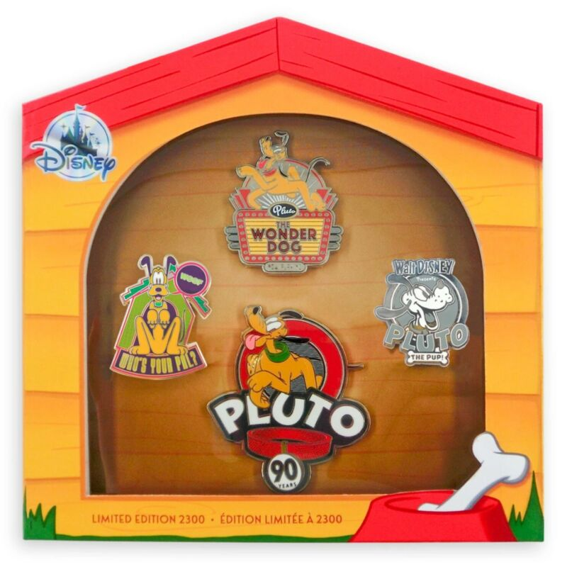 Pluto 90th Anniversary 90 Years 2020 LE 2300 Disney 4 Pin Set