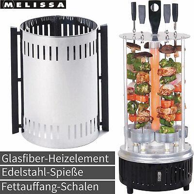 Melissa Vertikal Grill Rotisserie Döner Schaschlik Spieß Rund Dreh Tisch Grill