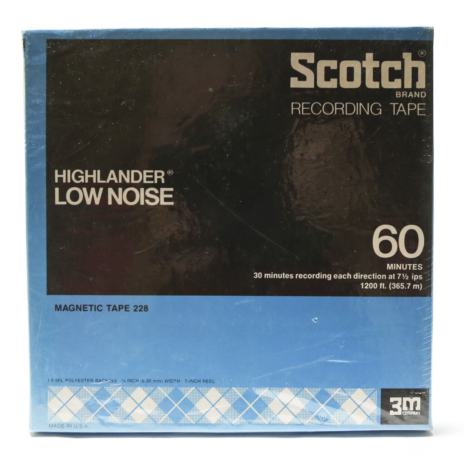 Vtg New Scotch Brand Recording Tape Highlander Low Noise 60 Minutes Reel To Reel - $17.99