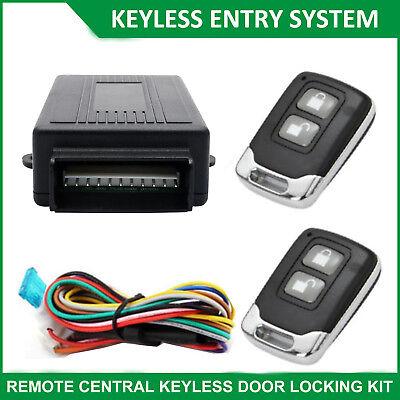 Universal Car Remote Central Security Locking Unlock System Keyless Entry Kit AU