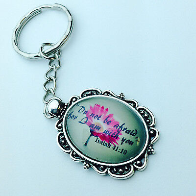"""JW KeyChain with Isaiah 41:10 """"Do not be afraid, for I am with you"""" NWT"""