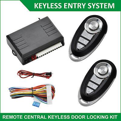 Car Keyless Entry Kit Auto Door Remote Central Locking Unlock System & 2 Fobs