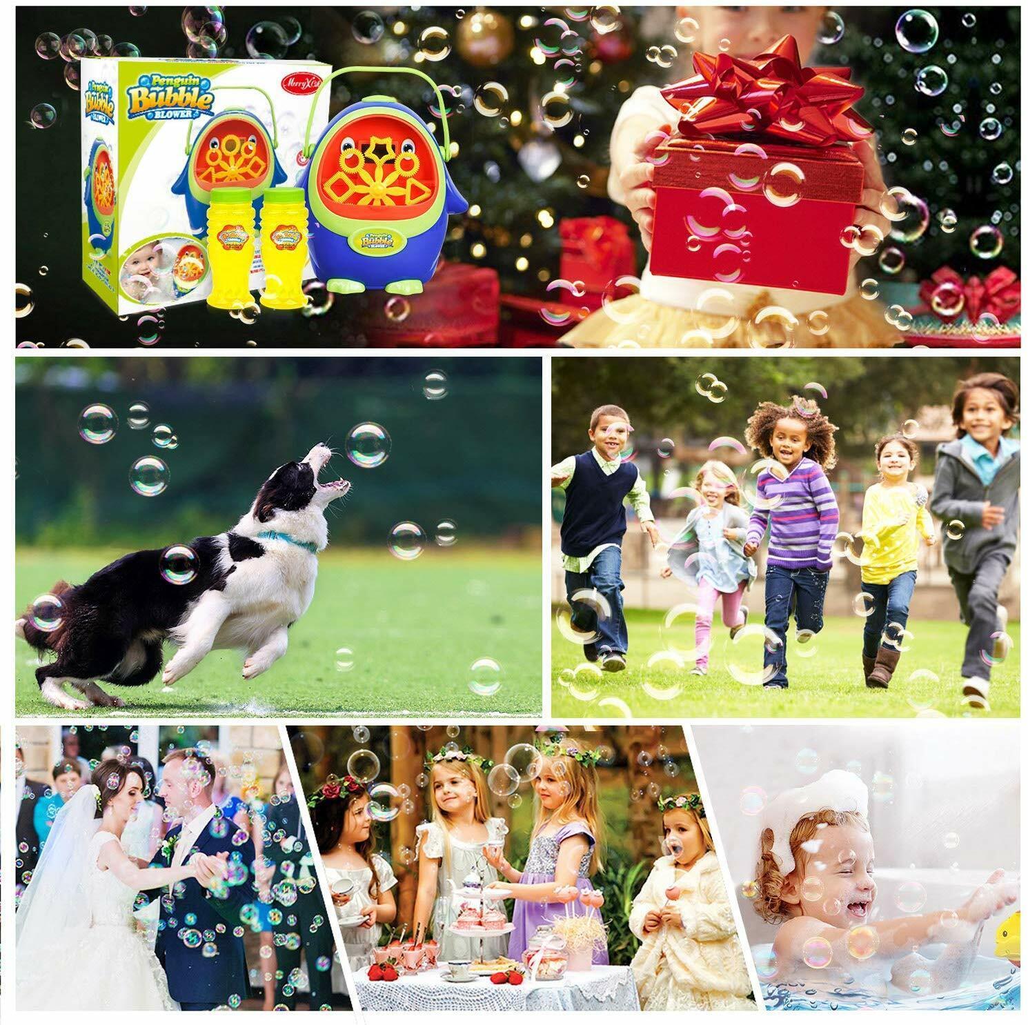 Automatic Bubble Machine with Bubble Solution for Kids Toddlers, Penguin Bubble Bubble Toys