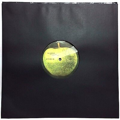 100 Black Polylined Record inner Paper+Poly-lined 12