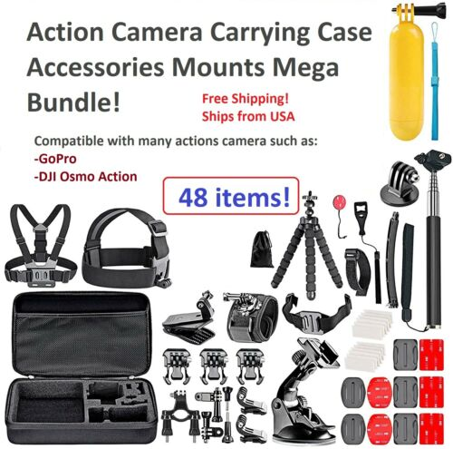 Best Accessories Kit Bundle Fit For Gopro Hero 9 8 7 Session Mount Combo 48PCS!!