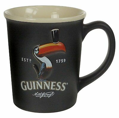 Guinness Official Merchandise Toucan Coffee Mug Black Cup Collectible Gift New