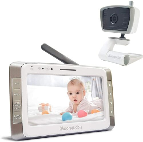 """Moonybaby Trust 50 Video Baby Monitor 5"""" Screen Portable Wired Camera Free Ship!"""