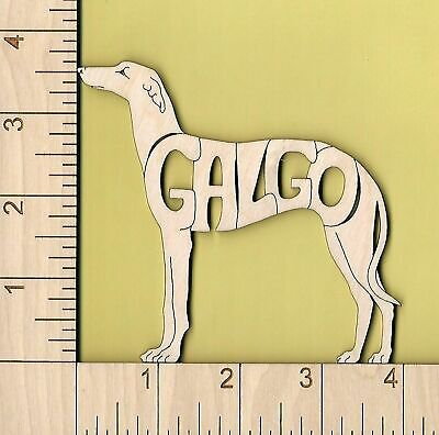 GALGO Spanish Greyhound Dog laser cut Magnet Great Gift (Greyhound Dog Magnet)