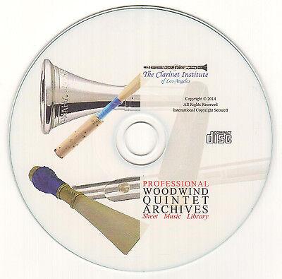 Compact Disc Sheet Music - HUGE Woodwind Quintet Sheet Music Collection - Volume 1 - PDF CD