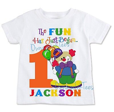 Circus Clown Birthday T-shirt, PERSONALIZE, custom, party outfit - Circus Outfits