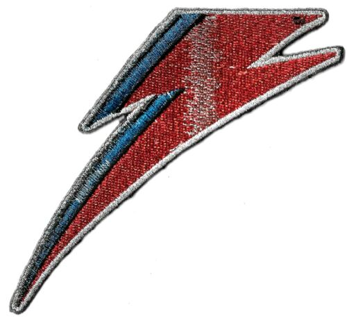 David Bowie - Lightning Bolt Logo Patch Embroidered Iron or Sew On Classic Rock