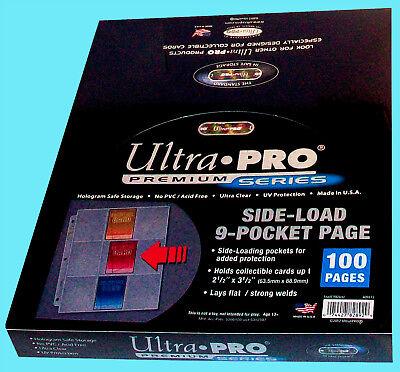 100 ULTRA PRO 9 POCKET SIDE LOAD Premium Pages NEW Binder Album sideloading mtg