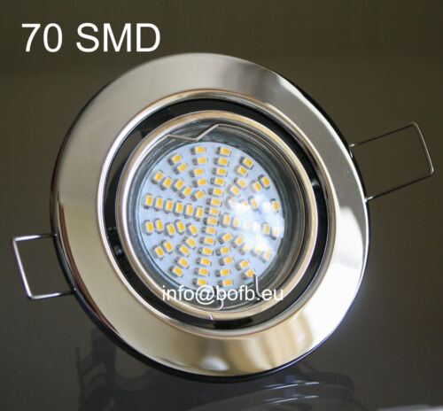 5 x power smd led einbaustrahler deckenleuchte downlight set chrom 230v gu10 ebay. Black Bedroom Furniture Sets. Home Design Ideas