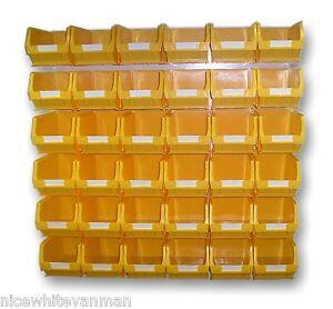 plastic storage bin set linbin lin bin big yellow bk22 ebay. Black Bedroom Furniture Sets. Home Design Ideas
