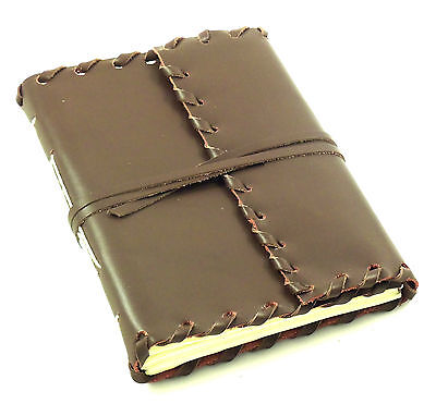 GENUINE Leather Journal Diary Notebook Sketchbook Vintage Rustic HAND MADE 5x7
