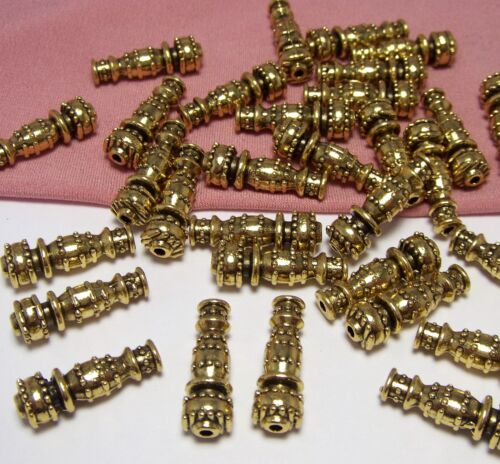 50 GOLD CANDLESTICK-VASE-WEIGHTY-SPACER BEADS-EARRING DROPS-FINDINGS-JEWELRY