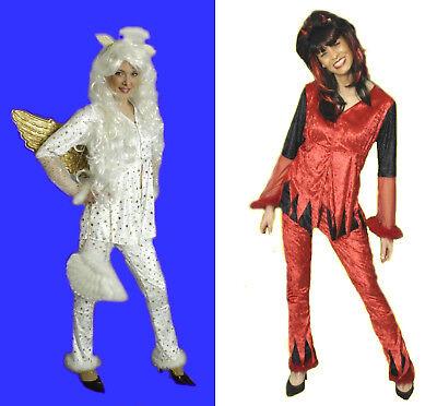 süßes Damen Mädchen Kostüm ENGEL TEUFEL Jungesellinnenabschied Cosplay - Süße Engel Kostüm Mädchen