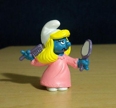 Smurfette Night Gown Smurf Comb Mirror Vintage Smurfs Figure Toy Figurine 20182