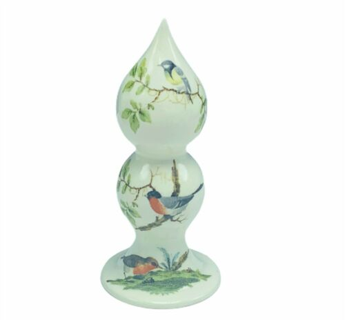 Sparrow figurine signed art Santis Lantis G 1981 vtg bird decor gift sculpture