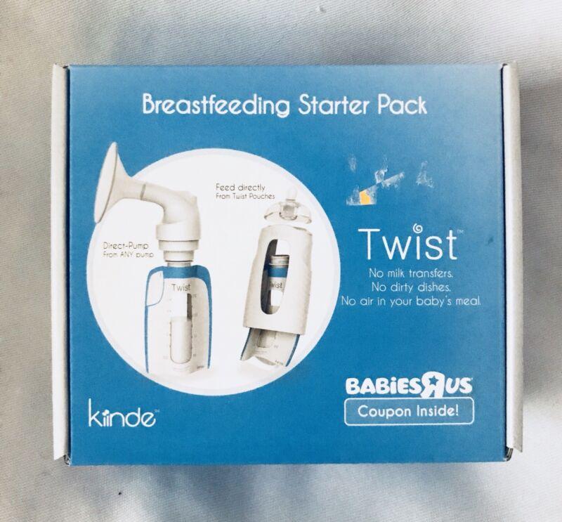 New Kiinde Twist Breastfeeding Starter Kit Pack Sample breast pump