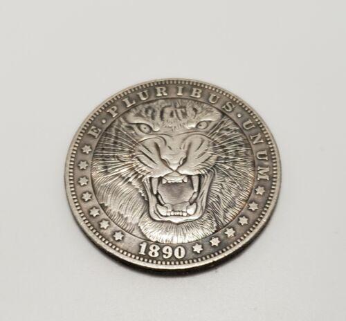 1890 Morgan Dollar Hobo Nickel Coin Tiger Growel