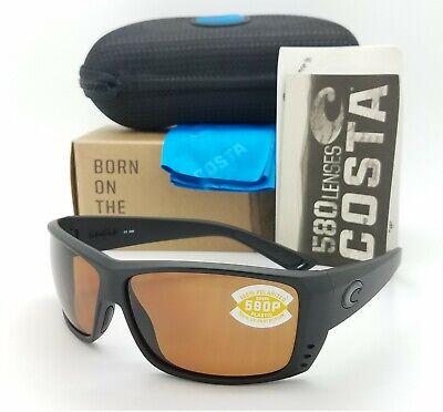 NEW Costa Del Mar sunglasses Cat Cay Blackout Copper 580P Plastic Lens AT01 (Del Sunglasses)