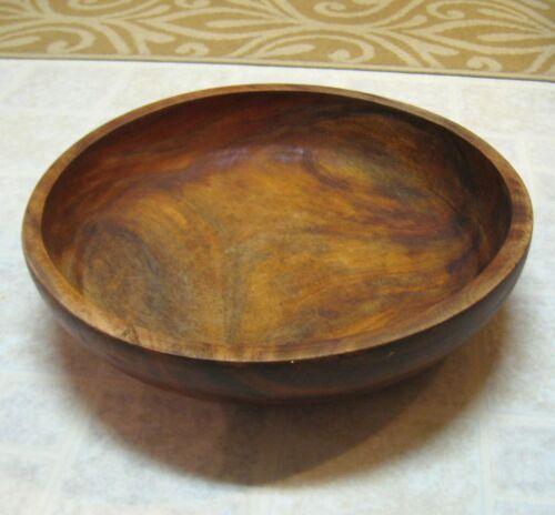 "Large Heavy Vintage Wood Bowl 16.5""W x 4""H"