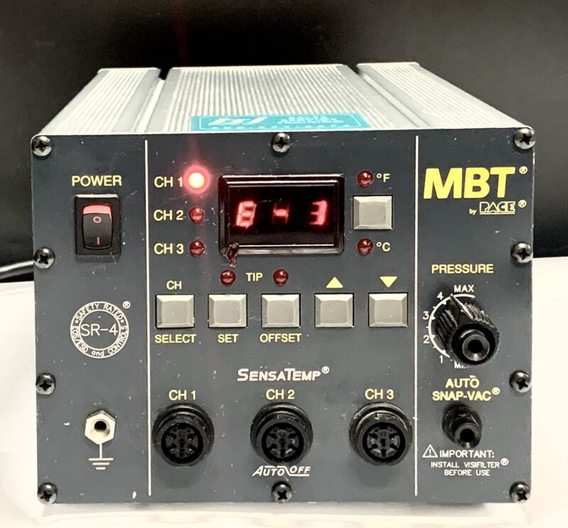 PACE MBT Soldering Desoldering Station SensaTemp 7008-0210-01 PPS 85A 115V