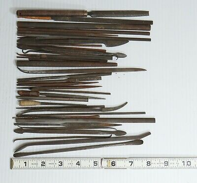 36 Assorted Vintage Us Swiss File Lot Silversmith Die Sinkers Rifflers Falcon