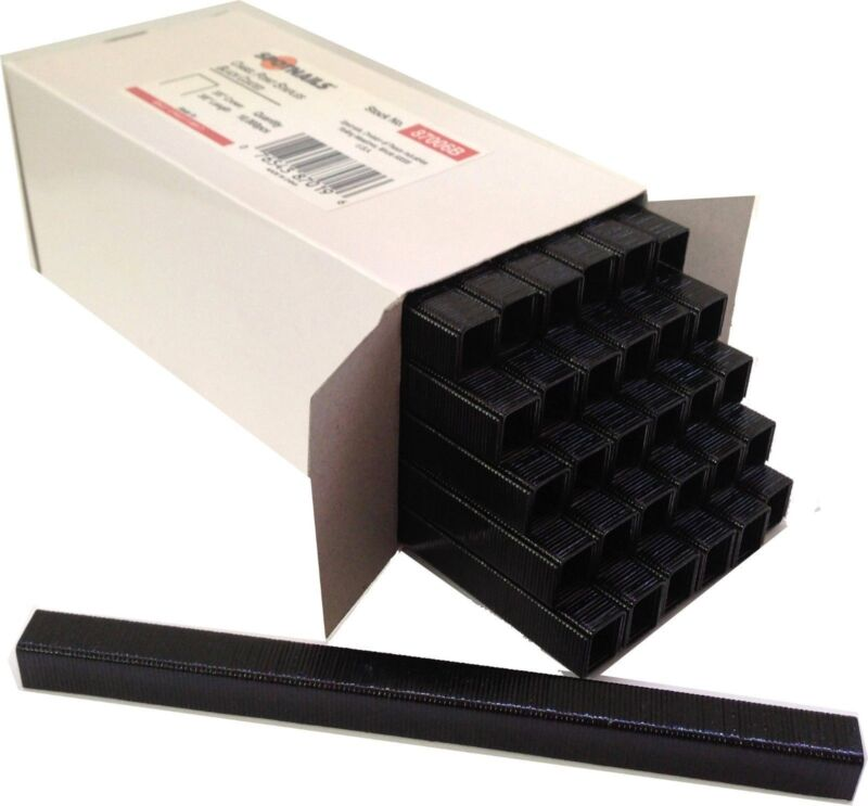 "Spotnails 87004B 22 Gauge Black Coated Upholstery Staples 3/8"" crown 1/4"" Long"