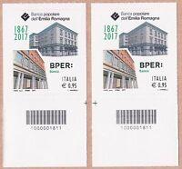 Italia Banca Popolare Dell'emilia Romagna Anno 2017 Codice A Barre Dx-sx -  - ebay.it